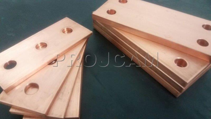 Corte de barras de cobre