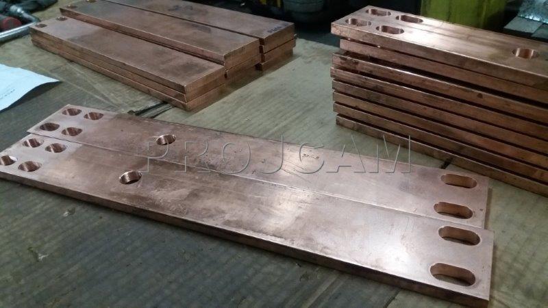 Corte e dobra de cobre